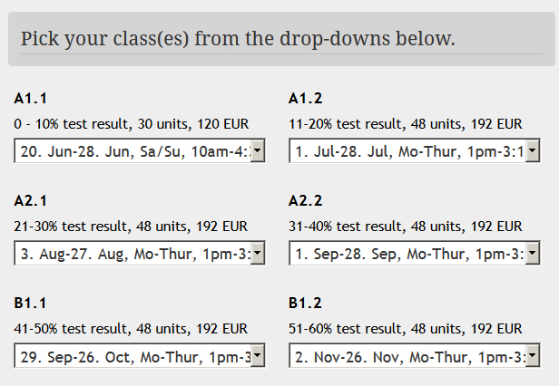 How to sign up to a group German class - Expath